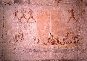 Relief from the Mastaba of Akhethotep depicting boating, from Saqqara, Old Kingdom