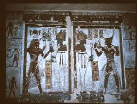 Relief in the tomb of Ramesses III (c.1184-53 BC) New Kingdom