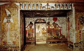 Two rooms from the Tomb of Nefertari (photo)