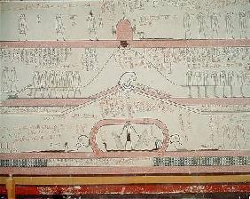 Scene from the Book of Amduat showing the journey to the Underworld, New Kingdom