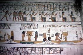 Scene from the Book of the Gates, from the Tomb of Ramesses VI