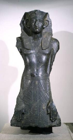 Statue of Sesostris III (1878-1843 BC) in middle age, from Deir el-Bahri, Thebes