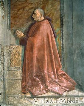 Portrait of Francesco Sassetti, from the Cycle of St. Francis, Sassetti Chapel