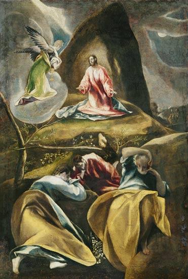 Le christ dans le jardin des oliviers tableau el greco for Au jardin des oliviers