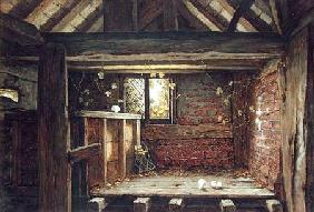 Among the Rafters, Speke Hall, Liverpool  on paper on