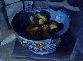 Quinces in a Blue Bowl