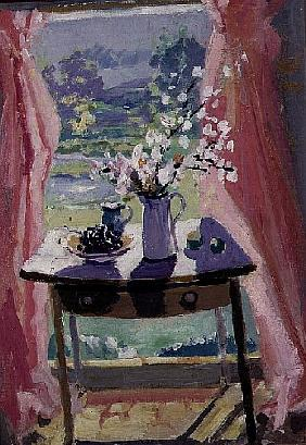 Spring Window (oil on canvas)