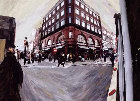 Turn Left for Neal Street, 1998 (paper mosaic collage)
