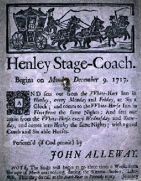 Advertisement for the Henley Stage Coach