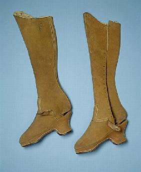 Boots believed to have belonged to Queen Elizabeth I, 16th century