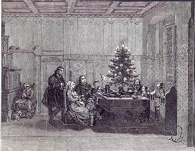 Christmas Eve in Germany: Martin Luther and his family, from ''The Illustrated London News'', 26th D