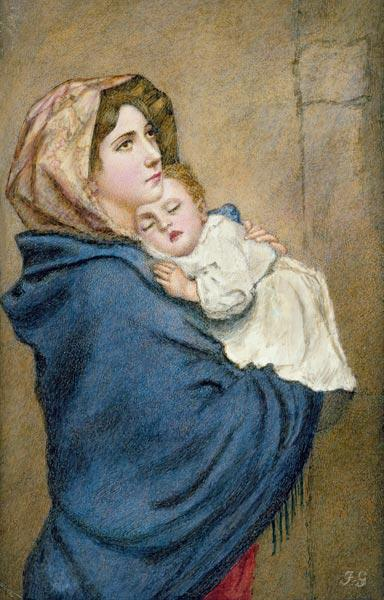 Mother and Child (w/c on ivorine)
