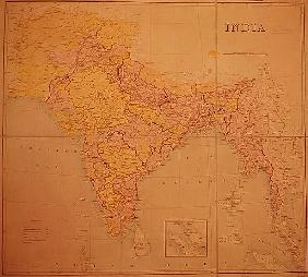 Map of India, published under the direction of Colonel H.R. Thuillier, R.E., Surveyor General of Ind