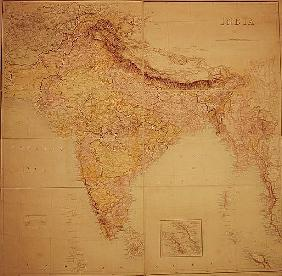 Map of India, published under the direction of Colonel J.T. Walker, C.B., R.E., F.R.S., Surveyor Gen