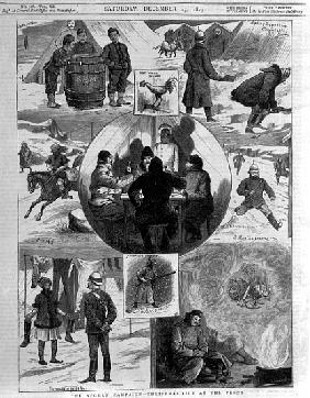 The Afghan Campaign- Christmas Tide at the Front, cover illustrations from ''The Graphic'', December