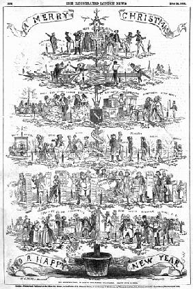 The Christmas Tree, as seen the father of a family, illustraion from ''The Illustrated London News''