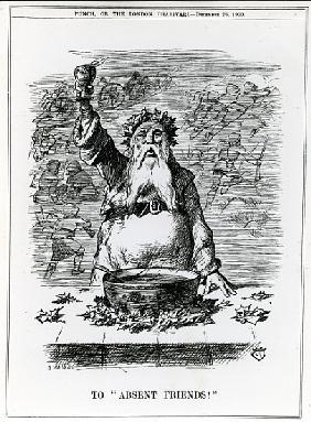 To Absent Friends!, a cartoon from ''Punch'' magazine, December 26th 1900