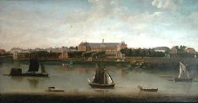 View of the Royal Hospital and the Rotunda from the south bank of The River Thames