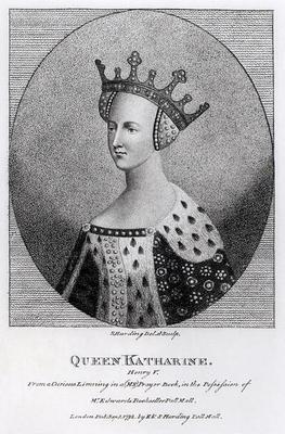 Queen Katherine (1401-37) pub. in 1792 (engraving)