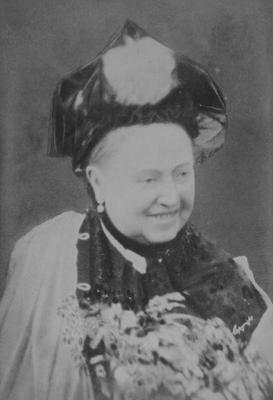 A Jubilee Portrait of Queen Victoria (1819-1901) Laughing, 21 June 1887 (sepia photo)