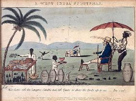 A West India Sportsman, published by William Holland, 1807 (etching, engraving and aquatint)