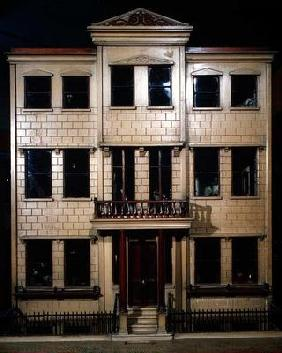 Exterior of doll's town house, 1840 (mixed media)