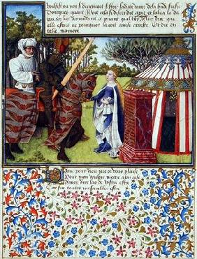 Ms. 2597 Heart and Desire with Hope at his House, facsimile edition of 'Livre du Coeur d'Amours Espr