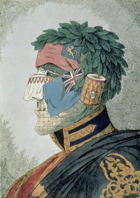 Portrait of a Noble Duke, cartoon of Arthur Wellesley, Duke of Wellington (1769-1852) pub. 1829 (etc