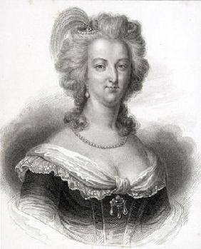 Portrait of Marie-Antoinette (1755-93) (engraving)