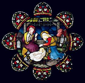 The Nativity (stained glass)