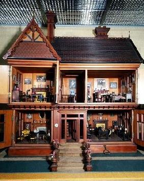 Doll's house purchased and furnished by Queen Mary, made by Ascroits of Liverpool, c.1920 (mixed med