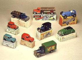 Collection of Minic cars, made by Lines Brothers, London, 1936-40 (tin)