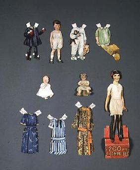 Cut out doll and clothes, late 1920s-early 1930s (colour litho)