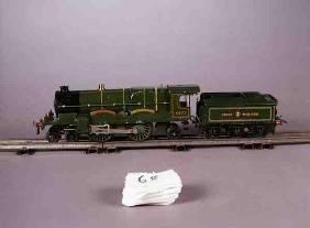 Hornby O gauge clockwork locomotive 4-4-2 Caerphilly Castle No.4073 and tender, in Great Western liv