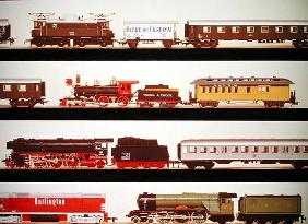 Selection of model trains