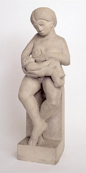 Madonna and Child 1 - feet crossed, 1909-10 (portland stone)