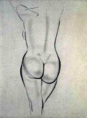 The Nude, 1936 (pencil on paper)