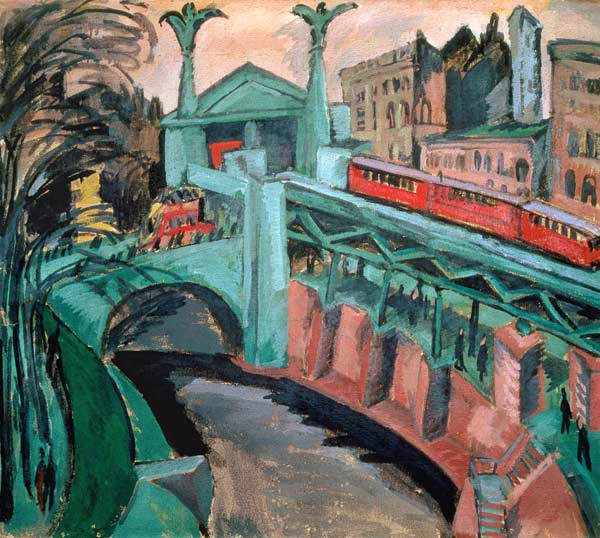 Ernst Ludwig Kirchner Hallesches Tor Berlin 1911 painting