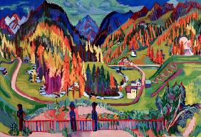 Kirchner, Ernst Ludwig : Sertig valley in autumn
