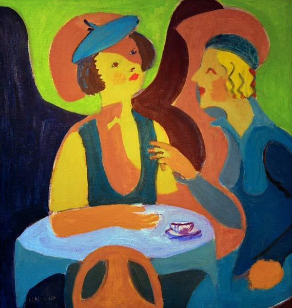 Two women at the cafe