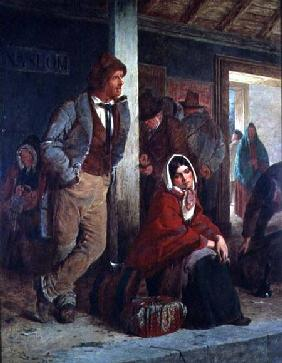 Irish Emigrants Waiting for a Train