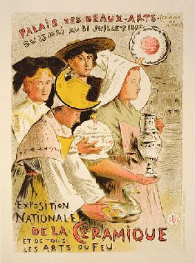 Reproduction of a poster advertising the 'National Exhibition of Ceramics'