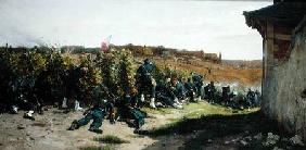 The Tirailleurs de la Seine at the Battle of Rueil-Malmaison, 21st October 1870
