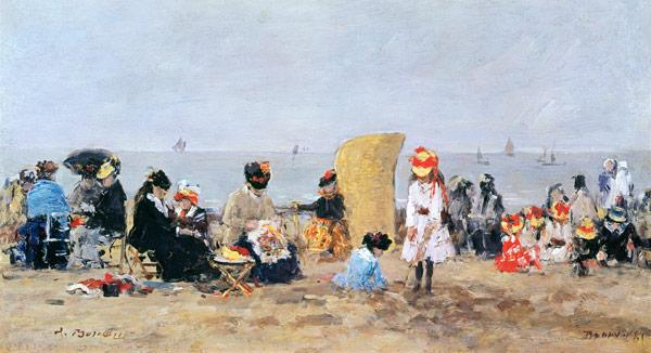 Beach Scene, Trouville