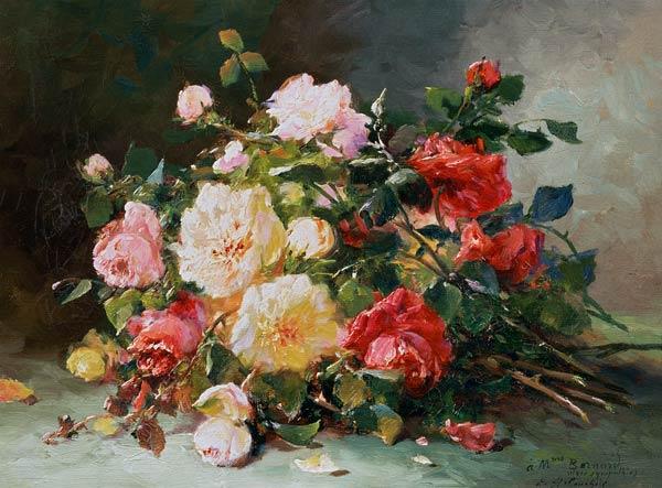 Célèbre A Bouquet of Roses - Eugene Henri Cauchois VJ56