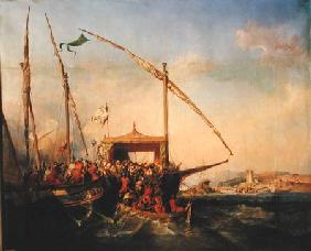 Naval Battle of Imbre in 1346
