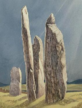 Tall Stones of Callanish, Isle of Lewis, 1986-7 (w/c)