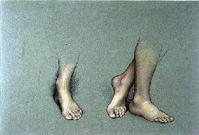 Study of Feet (pastel on paper)