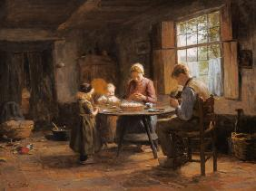 A Dutch Interior - Grace Before the Meal