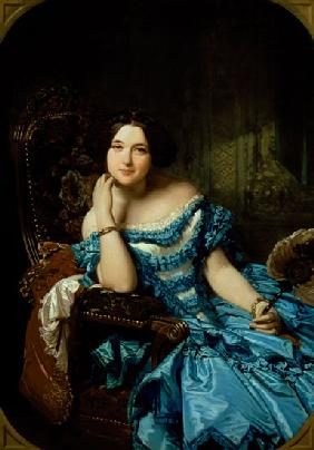 Portrait of Amalia de Llano u Dotres (1821-74), Countess of Vilches